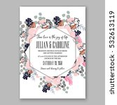 wedding invitation floral... | Shutterstock .eps vector #532613119