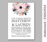 wedding invitation floral... | Shutterstock .eps vector #532614514