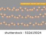 christmas lights isolated... | Shutterstock .eps vector #532615024