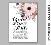 wedding invitation floral... | Shutterstock .eps vector #532615366