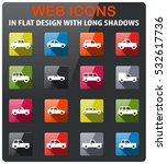 cars icons set in flat design...   Shutterstock .eps vector #532617736