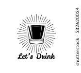 glass of whiskey vintage...   Shutterstock .eps vector #532620034