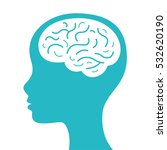 human head with brain icon. | Shutterstock .eps vector #532620190