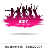 new year 2017. clouds from the... | Shutterstock .eps vector #532621204