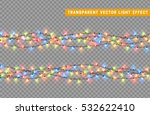 christmas lights isolated... | Shutterstock .eps vector #532622410