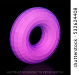 abstract stereometry  low poly... | Shutterstock .eps vector #532624408