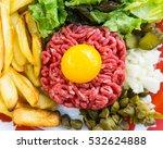 tasty steak tartare  raw beef   ...   Shutterstock . vector #532624888