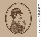vector illustration of vintage... | Shutterstock .eps vector #532625128