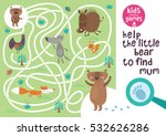funny maze for children. help... | Shutterstock .eps vector #532626286