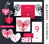 wedding collection. laser cut... | Shutterstock .eps vector #532628758