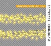 christmas lights isolated... | Shutterstock .eps vector #532631773