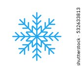 blue snowflake flat icon. snow... | Shutterstock .eps vector #532633813