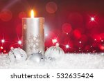 christmas ball ornament  candle ... | Shutterstock . vector #532635424
