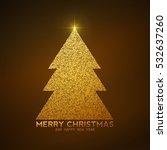 glitter new year tree  template ... | Shutterstock .eps vector #532637260