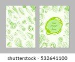 vegetarian food flyer design....   Shutterstock .eps vector #532641100