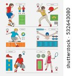 children doing sports vector... | Shutterstock .eps vector #532643080
