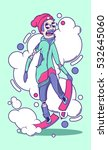 snowboarder illustration | Shutterstock .eps vector #532645060
