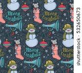 vector pattern of christmas... | Shutterstock .eps vector #532650673