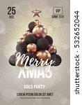 christmas hipster poster or... | Shutterstock .eps vector #532652044
