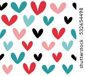 seamless heart background in... | Shutterstock .eps vector #532654498