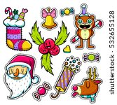 set of merry christmas and...   Shutterstock .eps vector #532655128