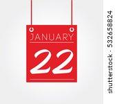 january calendar | Shutterstock .eps vector #532658824