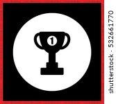winner cup vector icon | Shutterstock .eps vector #532661770