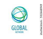 global network logo vector  | Shutterstock .eps vector #532668949