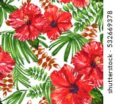 Tropical Floral Plants Pattern...