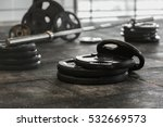 disassembled barbell on floor... | Shutterstock . vector #532669573