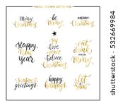 christmas and new year phrases... | Shutterstock .eps vector #532669984