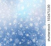 falling snow texture. winter...   Shutterstock .eps vector #532671130