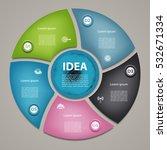 vector circle infographic.... | Shutterstock .eps vector #532671334