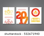 happy new year 2017 and merry... | Shutterstock .eps vector #532671940