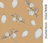 pine cones hand drawn sketch... | Shutterstock . vector #532678408