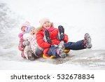 children having fun riding ice... | Shutterstock . vector #532678834