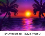 paradise seascape at sunset... | Shutterstock .eps vector #532679050