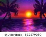 Paradise Seascape At Sunset...