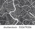 vector detailed map rome | Shutterstock .eps vector #532679206