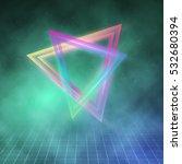 illustration of neon triangle...   Shutterstock .eps vector #532680394