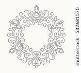 elegant hand drawn retro floral ... | Shutterstock .eps vector #532681570