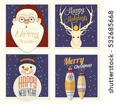 christmas card | Shutterstock .eps vector #532685668