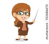 teacher woman   Shutterstock .eps vector #532686670