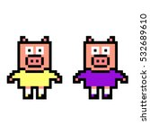 pixel art pigs