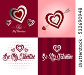 set of valentine's day cards ... | Shutterstock .eps vector #532690948