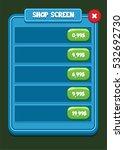 mobile game ui shop screen  ...
