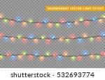 christmas lights isolated... | Shutterstock .eps vector #532693774