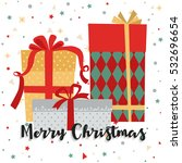 christmas background with gift... | Shutterstock .eps vector #532696654
