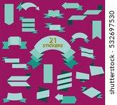 flat design of web stickers ... | Shutterstock .eps vector #532697530