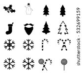 collection christmas icons ...